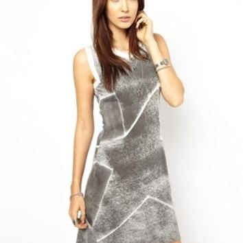Diesel Star Dress - Gray