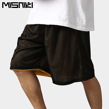 High Quality Reversible Casual Shorts Men Summer Double-Way Breathable Basketballs Shorts
