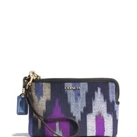 COACH Madison L-Zip Small Wristlet in Ikat Print Canvas