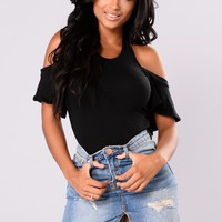 Just A Hint Of Skin Top - Black