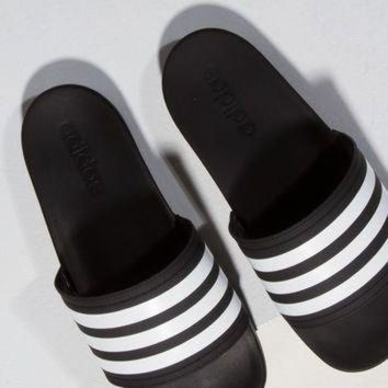 ONETOW adidas Slides in Black White