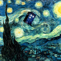 Doctor Who Van Gogh Starry Night TARDIS art by BohemianCraftsody