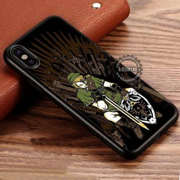 The Legend of Zelda Link in Iron Throne Chair iPhone X 8 7 Plus 6s Cases Samsung Galaxy S8 Plus S7 edge NOTE 8 Covers #iphoneX #SamsungS8