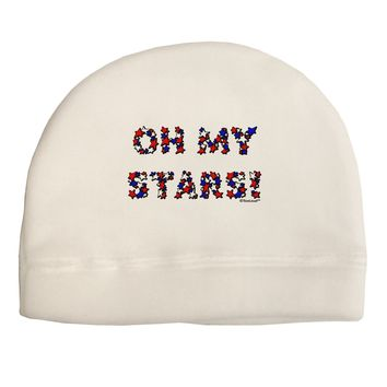 Oh My Stars Patriotic Design Adult Fleece Beanie Cap Hat by TooLoud