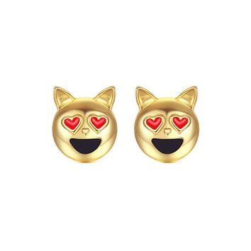 New  Simple Dog Head Alloy Women Stud Earrings