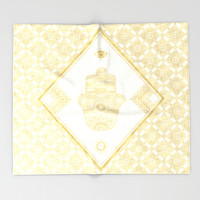 A Blessing (Gold) Throw Blanket by Octavia Soldani | Society6