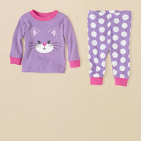 newborn - girls - cat pj set | Children's Clothing | Kids Clothes | The Children's Place