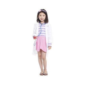 Shanghai Story Doctor Doc McStuffins Clinic Children Costume Girl's cosplay fantasia Fancy dress Carnival halloween costume