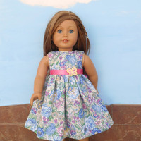 18 Inch Doll Clothes, Floral Doll Dress, Easter Doll Dress, Summer Doll Clothes, Summer Doll Dress