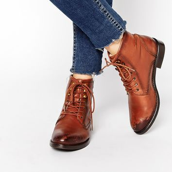 Park Lane Leather Worker Lace Up Ankle from ASOS