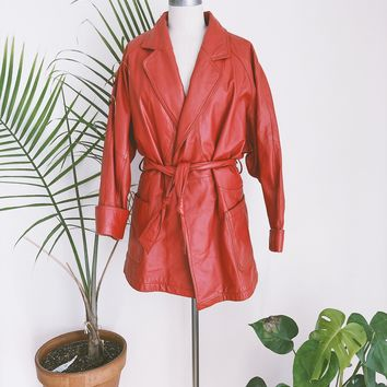 Scarlet Abdul Retro Leather Trench