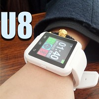 Smart Watch U8 Woman/Man Sport Bluetooth Smartwatch Fitness Tracker for Android IOS Phone PK Apple Watch GT08 DZ09 U80