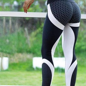 Modern Art Honeycomb Fitness Leggings