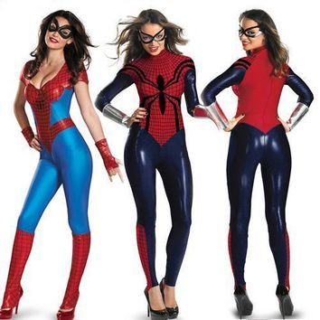 Womens Superheroes Group Costumes: Spiderwoman + Superwoman