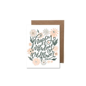 HEARTSWELL HAPPY BIRTHDAY WILDFLOWER CARD