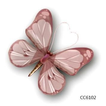 Tattoo Sticker Mini Body Art waterproof temporary  butterfly design