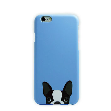 Boston Terrier (Blue) - iPhone Case