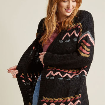 Kitschy Stitches Oversized Cardigan