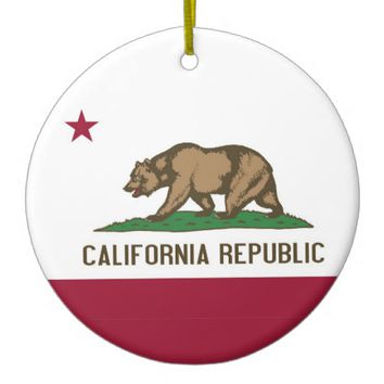 Ornament with flag of California