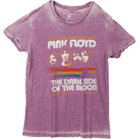 Pink Floyd Men's  Retro Stripes Vintage T-shirt Purple