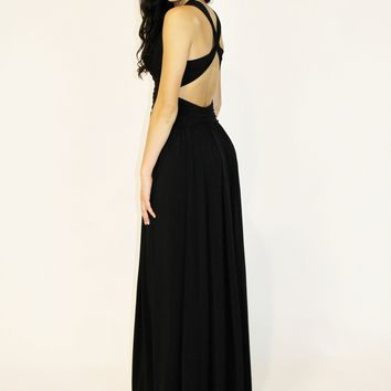 Black Draped Gown