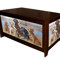 Hope chest with Dog Daze by Killen