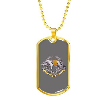 Ukrainian Special Operations Forces - 18k Gold Finished Luxury Dog Tag Necklace