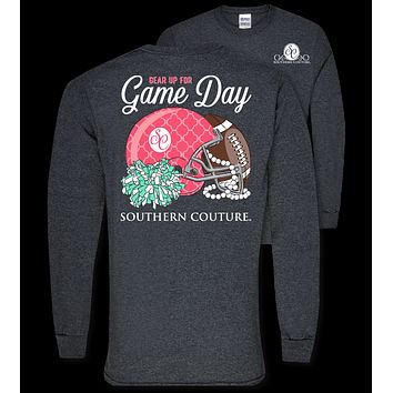 Southern Couture Preppy Gear Up for Game Day Football Long Sleeve T-Shirt