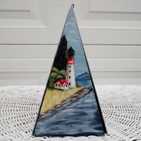 Nautical Triangle Metal Windchime Handpainted