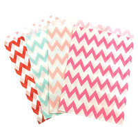 Chevron Paper Treat Bags, 7-inch, 25-pack