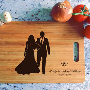 ikb622 Personalized Cutting Board just married wedding gift wedding wooden