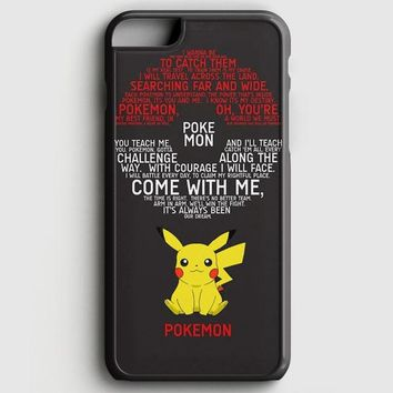 Pokemon Pokedex Pikacu iPhone 6 Plus/6S Plus Case