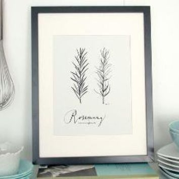 Rosemary 85x11 Culinary Art Collection by evajuliet on Etsy