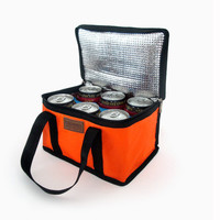 Excellent Quality Hot Insulated Cooler Thermal Picnic Lunch Bag Waterproof Travel Tote Box Fashion 6 Candy Colors Free Shipping