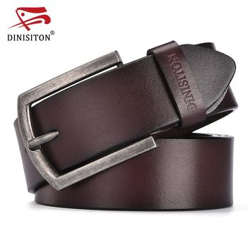 Fashion Cow Genuine Leather Belt For Men Casual Vintage Style Male Belts For Men's Pin Buckle Strap