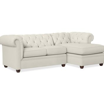 Chesterfield Upholstered 2-Piece Sectional with Chaise