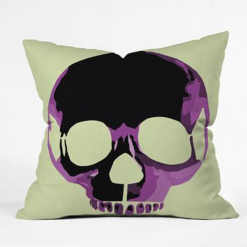 Amy Smith Pink Skull 1 Throw Pillow