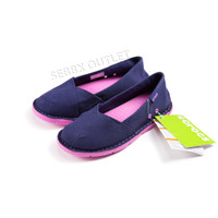 Crocs Cabo Slip On Shoes Canvas Navy Blue / Pink