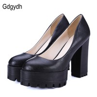 Gdgydh 2017 New Spring Autumn Casual Shoes Women Thick Heels Platform Pumps Russian Sh