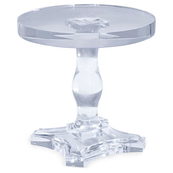 Corinthian Side Table, Clear, Acrylic / Lucite, Standard Side Tables