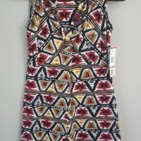 NWT Jones New York Signature Petite Dress Size PP Multicolored Sleeveless $99.00