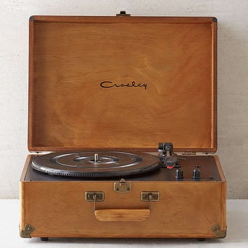 Crosley X UO Keepsake Wood Portable USB Vinyl Record Player | Urban Outfitters