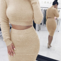 Autumn and winter two-piece sweater dress