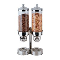 Buffet Enhancements 15.5 Cup Double Stainless Steel Cereal Dispenser