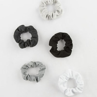 FULL TILT 5 Pack Ribbed Scrunchies