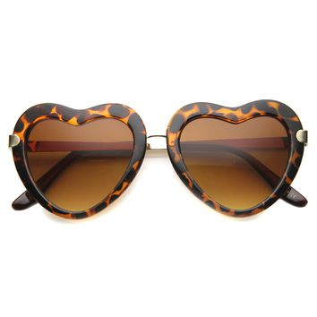 Women's Cute Heart Shape Fashion Sunglasses 9929