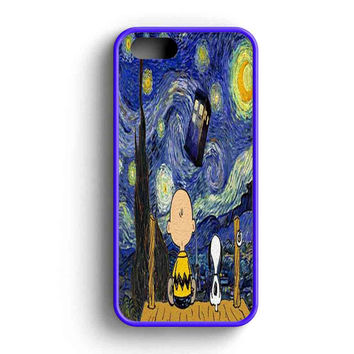 Every New Day Popular Peanuts Snoopy The Starry Night Doctor Who Tardis  iPhone 5 Case iPhone 5s Case iPhone 5c Case