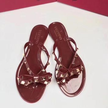 Valentino Women Casual Shoes Boots fashionable casual leather Women Heels Sandal Shoe