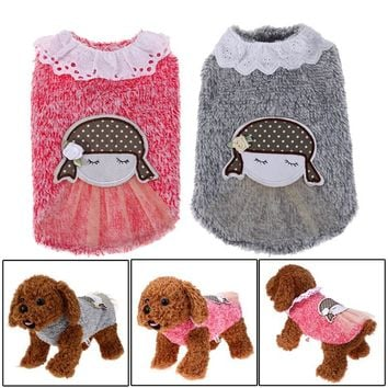 Girly Gray or Pink with White Collar Dog Dress