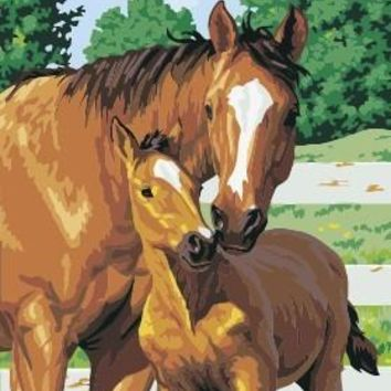 Mother and Child horse paintings by numbers Diy oil canvas painting home decor wall art decorative pictures for living room RG08